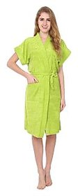 Imported Cotton Bathrobe (Parrot Green)