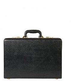 Stamp Leather Elegant Leather Men Suitcases BC055BK