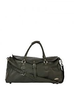 Stamp Leather Elegant Leather Unisex Duffle Bag DF12408BK