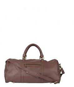 Stamp Leather Elegant Leather Unisex Duffle Bag DF12413BR