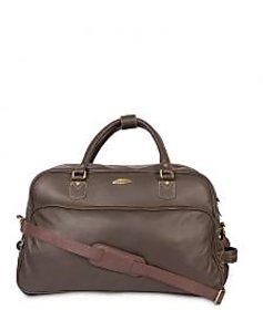 Stamp Leather Elegant Leather Unisex Duffle Bag DF12410BR