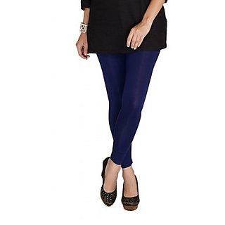 5a8e9baa3fb4c Online De Moza Dark Navy Blue Viscose Lycra Ankle Length Ladies ...