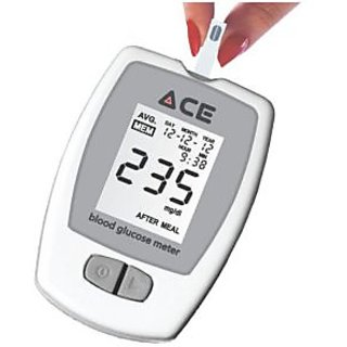 ACE Glucometer (Meter with Lancet Device)