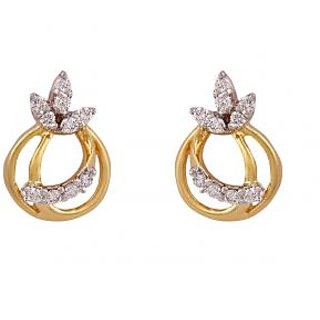 Hr Jewels Real Diamond Gold Earring With Egl Certificate Hre 1316