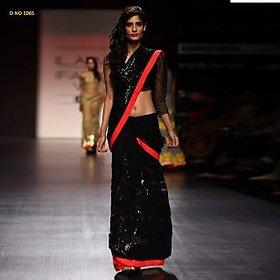 Akshar Creation Beige Brocade Self Design Saree With Blouse