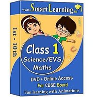 Smartlearning.in CBSE Class 1st Maths & Science/EVS (DV