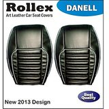 Evalia - Art Leather Car Seat Covers - Rollex - Danell - Beige With Black