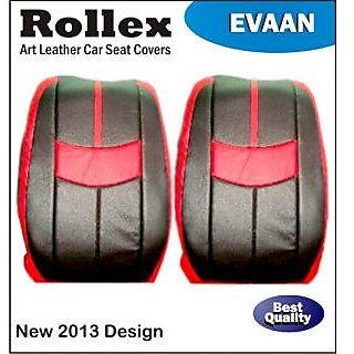 Alto 800 (Latest) - Art Leather Car Seat Covers - Rollex - Evaan - Black