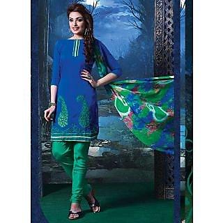 Swaron Black Polycotton Lace Salwar Suit Dress Material (Unstitched)