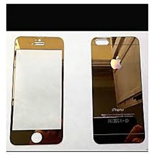 FRONT AND BACK GOLDEN TEMPERED GLASS SCREEN GUARD FOR APPLE  IPHONE 5/5S