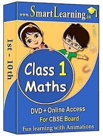 Smartlearning.in CBSE Class 1st Maths (DVD + Online Acc
