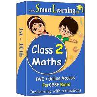 Smartlearning.in CBSE Class 2nd Maths (DVD + Online Acc