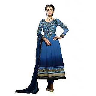 D.Tribhuvandas Enterprise Navy blue Anarkali suit