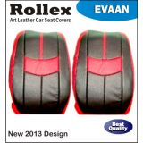 Fluence - Art Leather Car Seat Covers - Rollex - Evaan - Gray With Light Gray