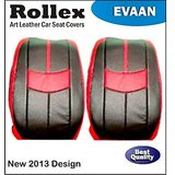 Wagon R 2009 And Earlier - Art Leather Car Seat Covers - Rollex - Evaan - Gray With Light Gray