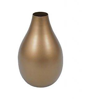 Golmaalshop Iron Gold Finish Flower Vase - Small