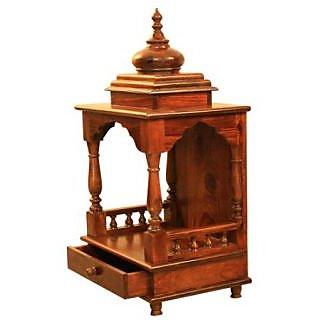 Temple-Pooja Mandir Wooden - VASTU COMPLIANT :Sheesham wood/ Rosewood. Handcraft