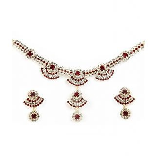 14Fashions Pretty Necklace Set in Red - 1101215