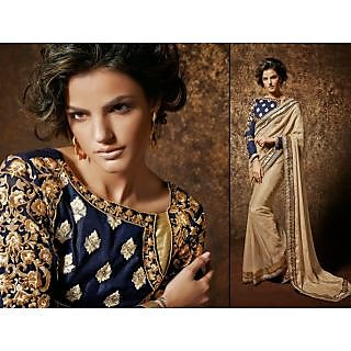 Designer Saree With Full Embroidered Blouse