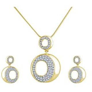 Shriya Austrian Stunning Diamond Chain Pendant Set For Women