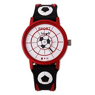 Telesonic Analog Watch For Men-TSPK-04-(Red & Black)