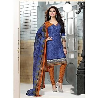 Swaron Peach And Black Dupion Silk Lace Salwar Suit Dress Material (Unstitched)