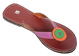 Santosh Art Collection Footwear SAC3342 Exclusive purple strip beautiful slipper