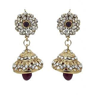 Kriaa Brown Pretty Jhumki Earrings - 1300718