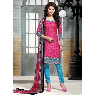 Swaron Khaki And Black Dupion Silk Lace Salwar Suit Dress Material (Unstitched)