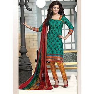 Swaron Red And Brown Dupion Silk Lace Salwar Suit Dress Material (Unstitched)