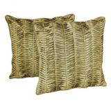Rib Cushion Cover Green(2 Pcs Set)