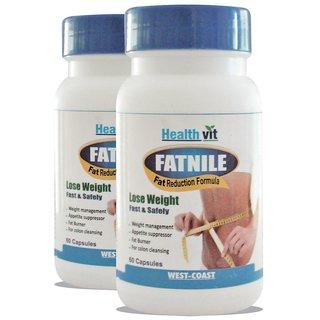 Health Vit Fatnile Fat Burner  Weight Loss 60 Capsules - Pack of 2