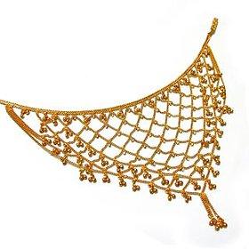 Traditional Gold Plated Saree Challa  Belly Hips Chain Waist Belt kamarpatta