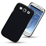 COOL BLACK RUBBERISED HARD BACK SHELL COVER CASE FOR SAMSUNG GALAXY S3 SIII
