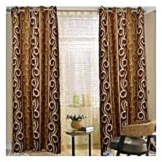 Home Passion  Style Brown Door(7X4Ft) curtain(HPC021)