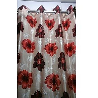 Home Passion Red Flowers  Door(7X4)Curtain(HPC042)