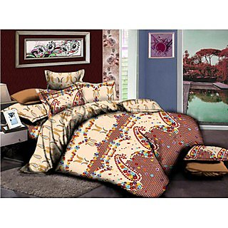 Weaves 300 TC Sateen Reactive Print Sanskriti Double Bedsheet