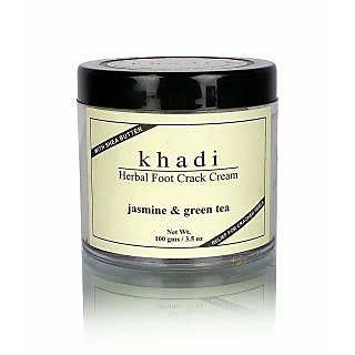 KHADI JASMINE  GREEN TEA HERBAL FOOT CRACK CREAM with SHEABUTTER 100 gm