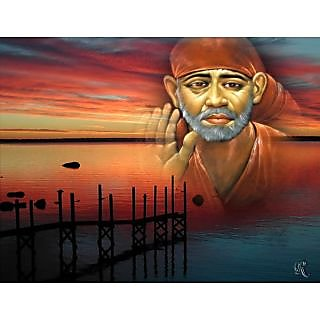 Sai-Baba Oil Painting