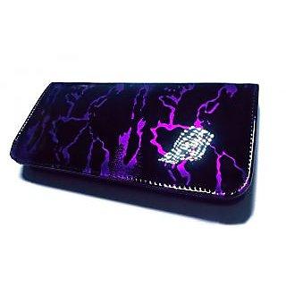 marbelling purple clutch