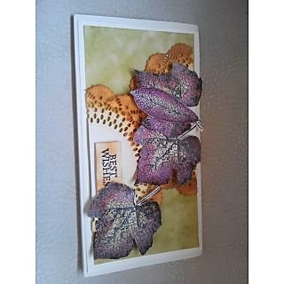 designer handmade alcohol ink envelope