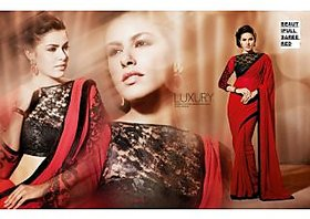 Apparels4U Multicolor Brocade Self Design Saree With Blouse