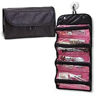 689343fcd3ad Roll N Go Cosmetic Bag Toiletry Jewelery Organizer JS
