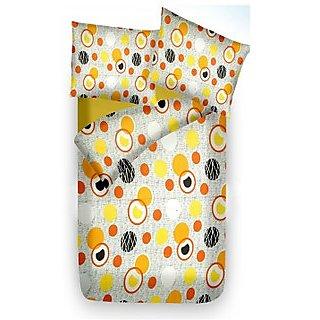 Sim King Cotton Printed Bedsheet (sim_single_118)