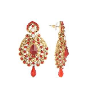 Panini Orange Diamonds Studded Earrings_E_2019