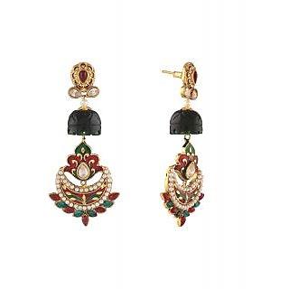 Panini Multicolour Dangler Earring Set for Women_F_492