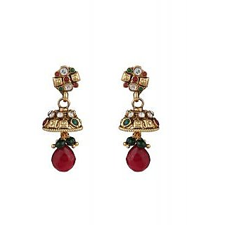 Panini Traditional Golden Earring Set_M_15_1