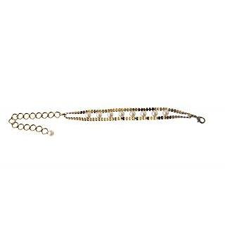 Rejuvente Jewels Designer Unique 2 In 1 White Pearl Bracelet/Anklet - Rjb300