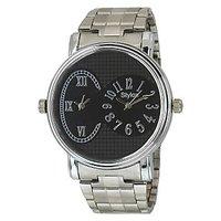 Stylox Round Dial Silver Metal Strap Quartz Watch For Men