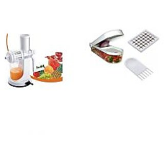 Ganesh Juicer Steel Handle with Ganesh Vegetable & Fruit Chopper Cutter
